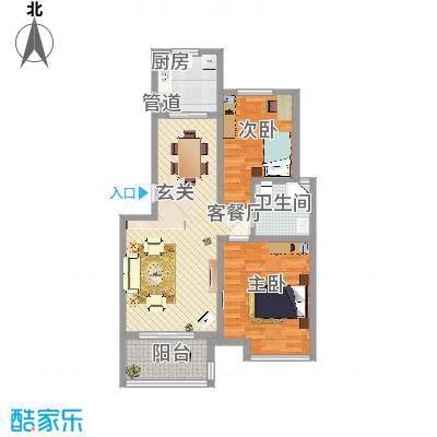 滨湖明珠滨湖明珠户型图ef562e52室2厅1卫1厨户型2室2厅1卫1厨-副本