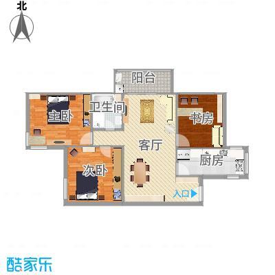 双紫小区三室一厅