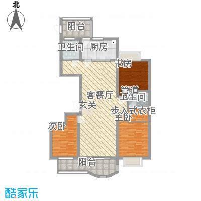 城建・绿色佳园157.00㎡户型3室2厅2卫1厨-副本