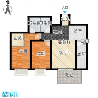 东泰花园明华苑82.00㎡东泰花园明华苑2室户型2室-副本
