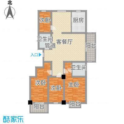 陵川信合苑154.68㎡D型户型4室2厅2卫-副本