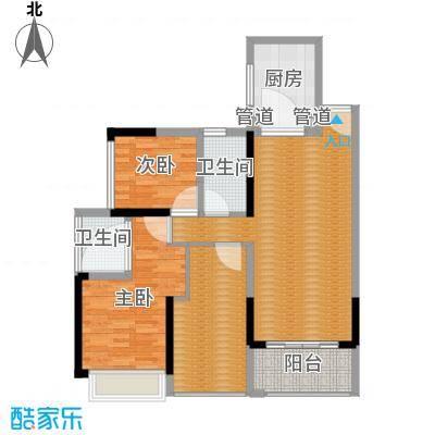 上东国际三期-14栋1单元01-3室2厅2卫1厨90平米