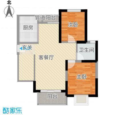 启航社U时代82.00㎡启航社U时代2室户型2室-副本