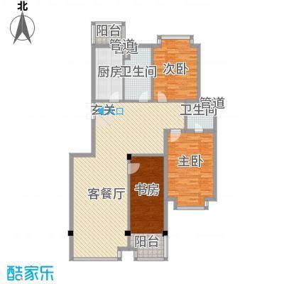 滨江花苑144.00㎡B户型3室2厅2卫-副本