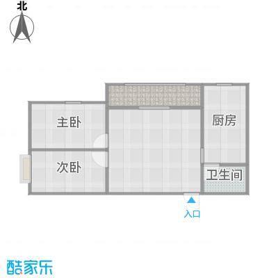 自由港83平A1户型两室一厅