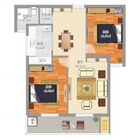 阳光嘉园2室2厅1卫1厨