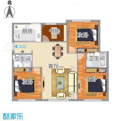 西湾小区4室2厅2卫139.8㎡