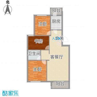 印象江南104.00㎡C1户型3室3厅1卫1厨