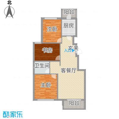 印象江南104.00㎡A4户型3室3厅1卫1厨