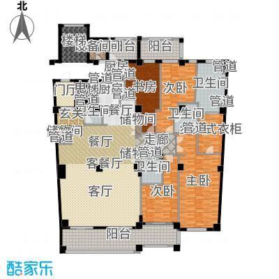 复地御西郊310.00㎡四居户型4室2厅-副本