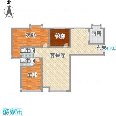 香水湾160.00㎡尊贵三居户型3室3厅2卫1厨