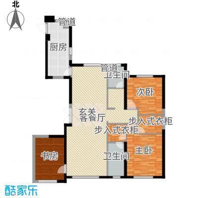 中庚当代艺术176.00㎡2号楼G户型3室2厅2卫1厨-副本