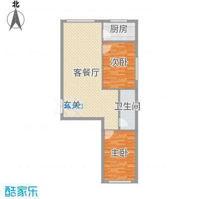 七彩时代广场91.67㎡户型2室2厅1卫1厨