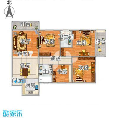 吉大豪苑方正四房两厅实用精致