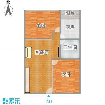 阳光假日公寓72㎡做2房