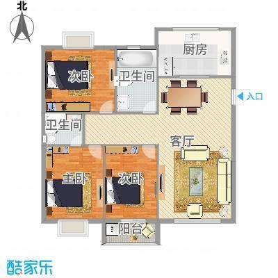 新天地西区3室1厅2卫1厨