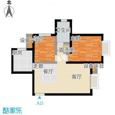 远洋海悦公馆83.00㎡16号楼B8户型-副本
