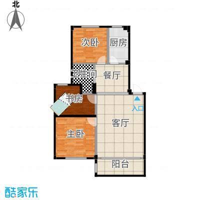 喜盛威尼斯三期92.92创意三房-内墙尺寸-户型修改