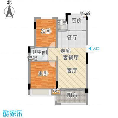 金美花园金泽台86.00㎡金美花园金泽台2室户型2室-副本