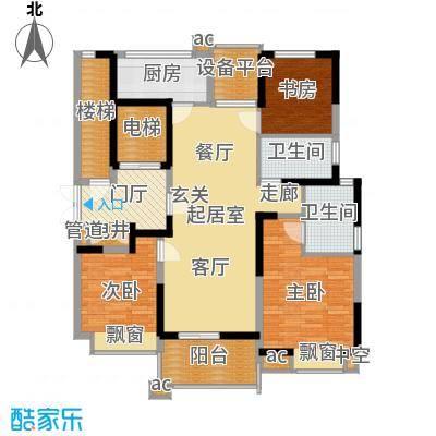 九龙仓雅戈尔铂翠湾115.00㎡A户型3室2厅-副本
