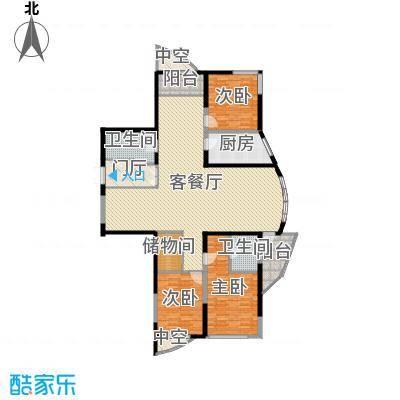 未来城215.01㎡未来城户型图AB户型4室2厅2卫户型4室2厅2卫-副本