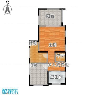 隆鑫72府60.58㎡A1套内总面积1497第三层户型1室1卫-副本