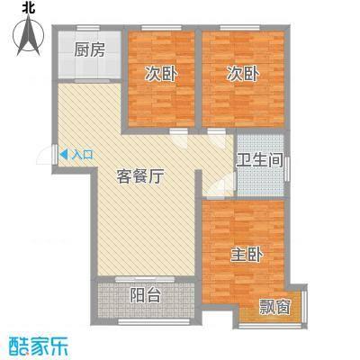 雍雅锦江114.92㎡7号楼标准层H户型3室3厅1卫1厨