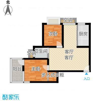 曲阳名邸84.70㎡房型: 二房; 面积段: 84.7 -109 平方米; 户型-副本-副本