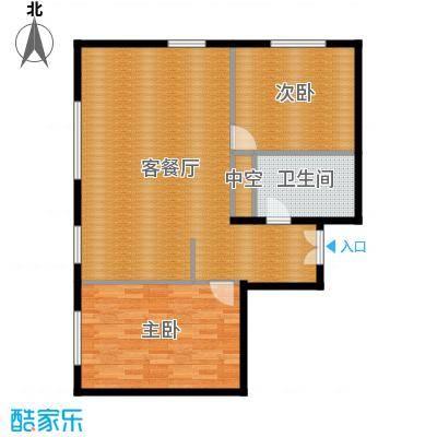 北京ONE114.38㎡图为1-A户型2室1厅1卫-副本
