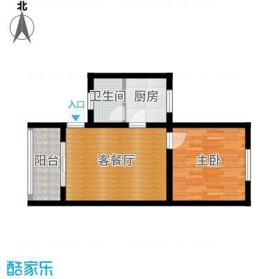 金碧园户型1室1厅1卫1厨-副本