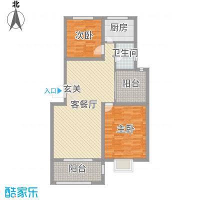 浙景国际玫瑰园100.10㎡二期F户型3室3厅1卫1厨