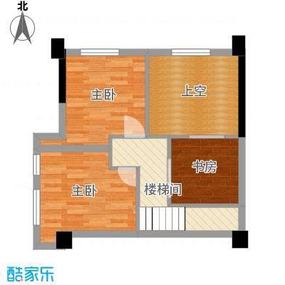 田禾卢浮公馆80.00㎡5栋A1复式上层户型4室4厅1卫1厨