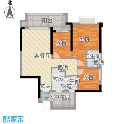 锦绣海湾城102.00㎡3期B户型3室3厅2卫1厨