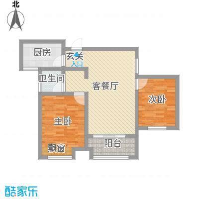 祥生・中央华府82.26㎡B1户型2室2厅1卫1厨-副本