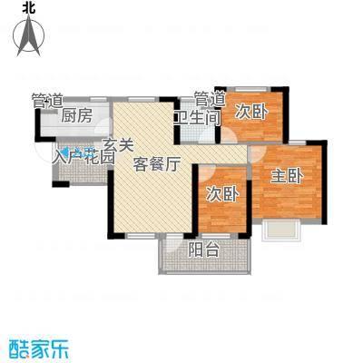 锦绣海湾城89.00㎡7期15座08户型3室3厅1卫1厨