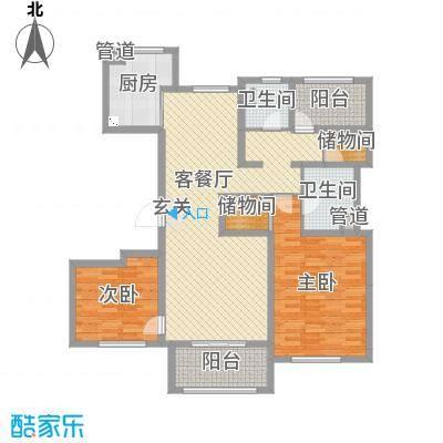 朗诗绿色街区130.00㎡8号楼F2户型3室3厅2卫1厨