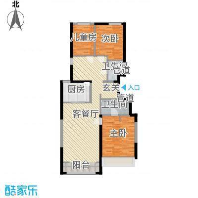 万科新里程132.00㎡6#、9#、10#、12#、13#、15#楼标准层L户型3室3厅2卫1厨