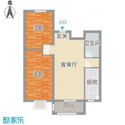 新天地鹭港102.07㎡2103#楼标准层B户型2室2厅1卫1厨