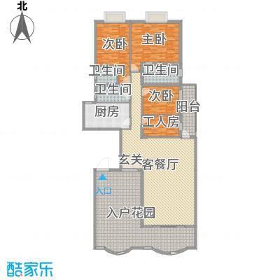 名苑华庭210.26㎡18座标准层01户型4室4厅3卫1厨