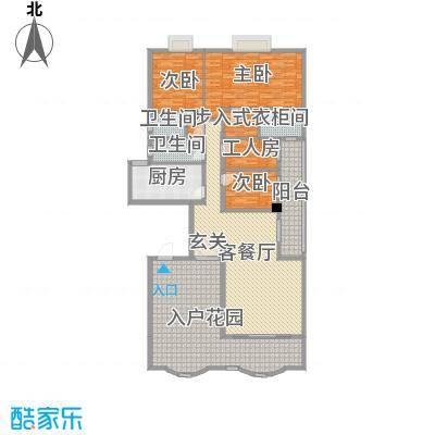 名苑华庭214.56㎡17座标准层01户型4室4厅3卫1厨
