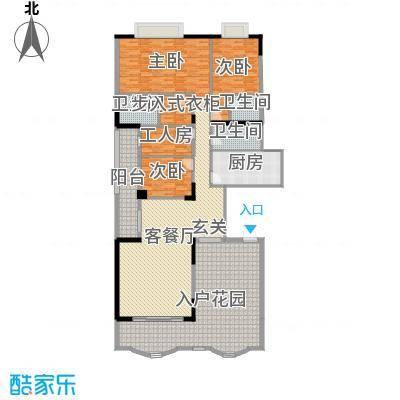 名苑华庭215.53㎡18座标准层02户型4室4厅3卫1厨