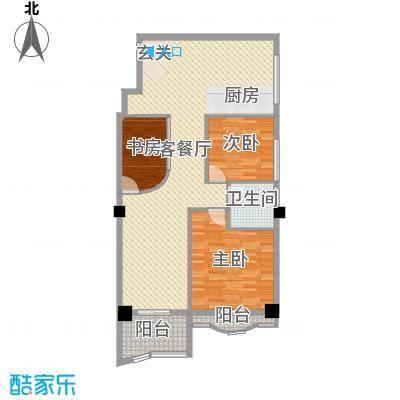 名苑华庭96.70㎡3幢03、04标准层户型3室3厅1卫1厨