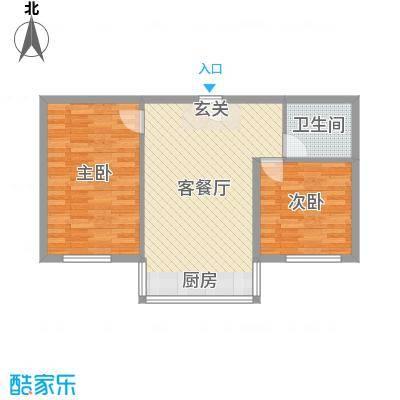铭丰渤海明珠家园71.68㎡户型2室2厅1卫1厨