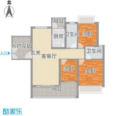 海雅君悦花园118.00㎡2栋03、04户型3室3厅2卫1厨