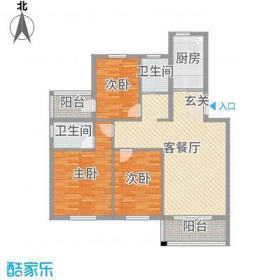 恒通康城115.00㎡A户型3室3厅2卫1厨