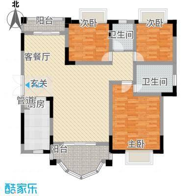 锦绣江山138.11㎡3室2厅户型-副本