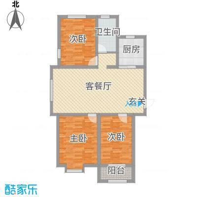宏宇・龙湖湾110.00㎡龙湖湾户型3室3厅1卫