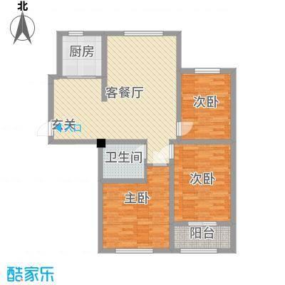 宏宇・龙湖湾110.00㎡户型3室3厅1卫
