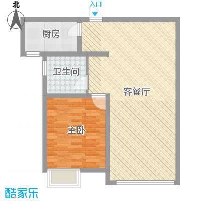 亿隆国际广场86.78㎡A1-1户型1室2厅1卫-副本