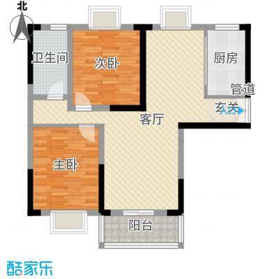 上海城黄浦花苑二期78.60㎡B-户型2室2厅1卫